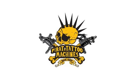 Pirat Bobinli Dövme Makinesi Logo